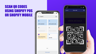Scan using Shopify POS or mobile app to redeem QR codes