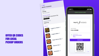 Offer QR codes for local pickup orders