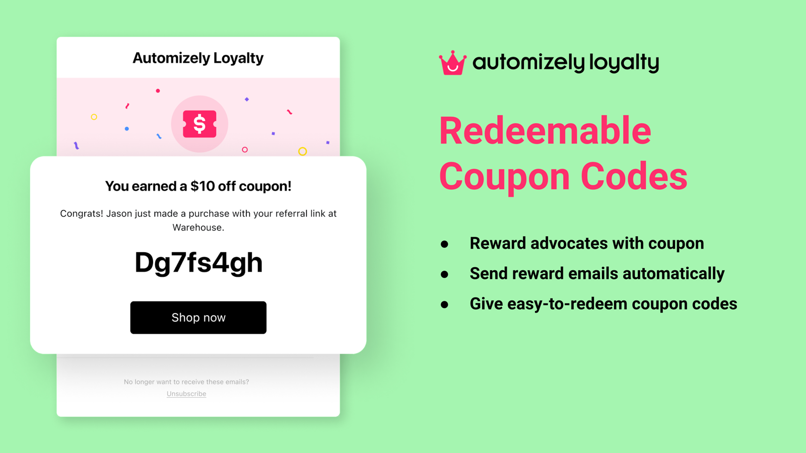 Redeemable Coupon Codes