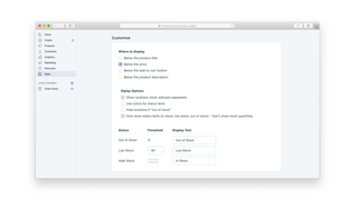 Customize your messages, display options and thresholds.