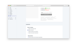 Customize Where to display stock status in your product page.
