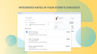 Increase your conversion rate with dynamic rates at checkout.