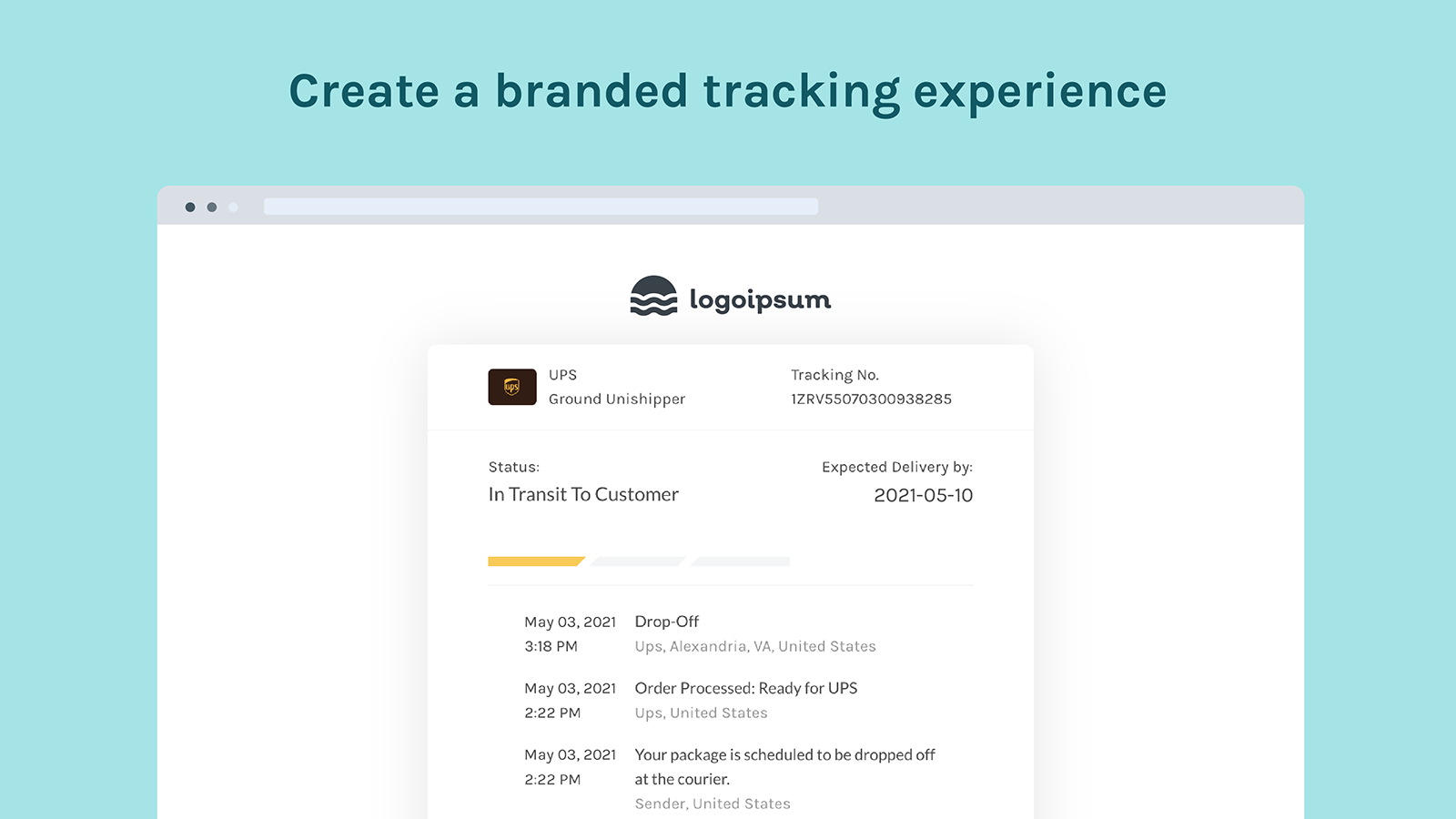 Easyship Provides Branded Tracking and Emails for Your Store.