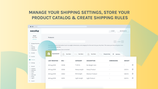 Manage your shipping settings, product catalog and create rules.