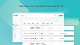 Track all your shipments within Easyship's dashboard.