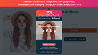 Preview Screen Before Share - Sale template