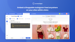 Embed Shoppable Instaram feed anywhere on website within clicks