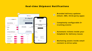 Email and SMS shipping notifications