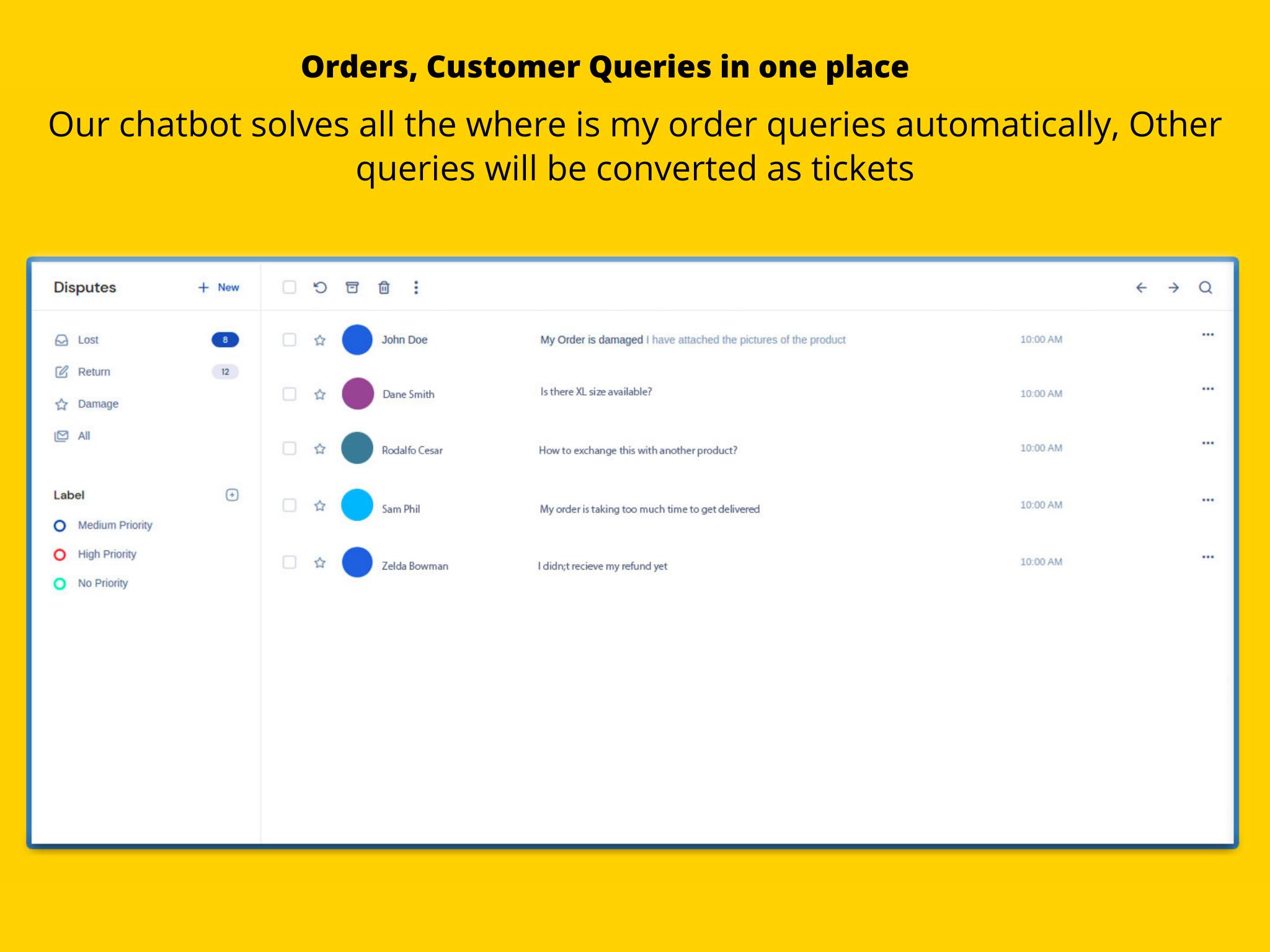 After-checkout customer queries in one place