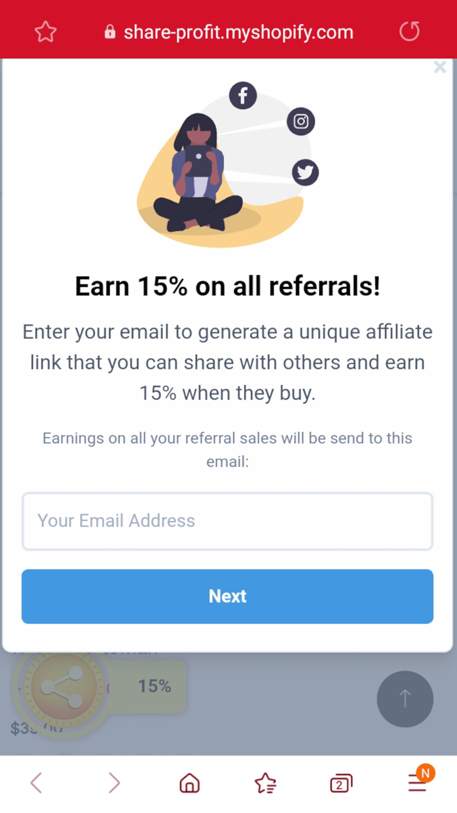 Email is all one needs to start promoting your store.