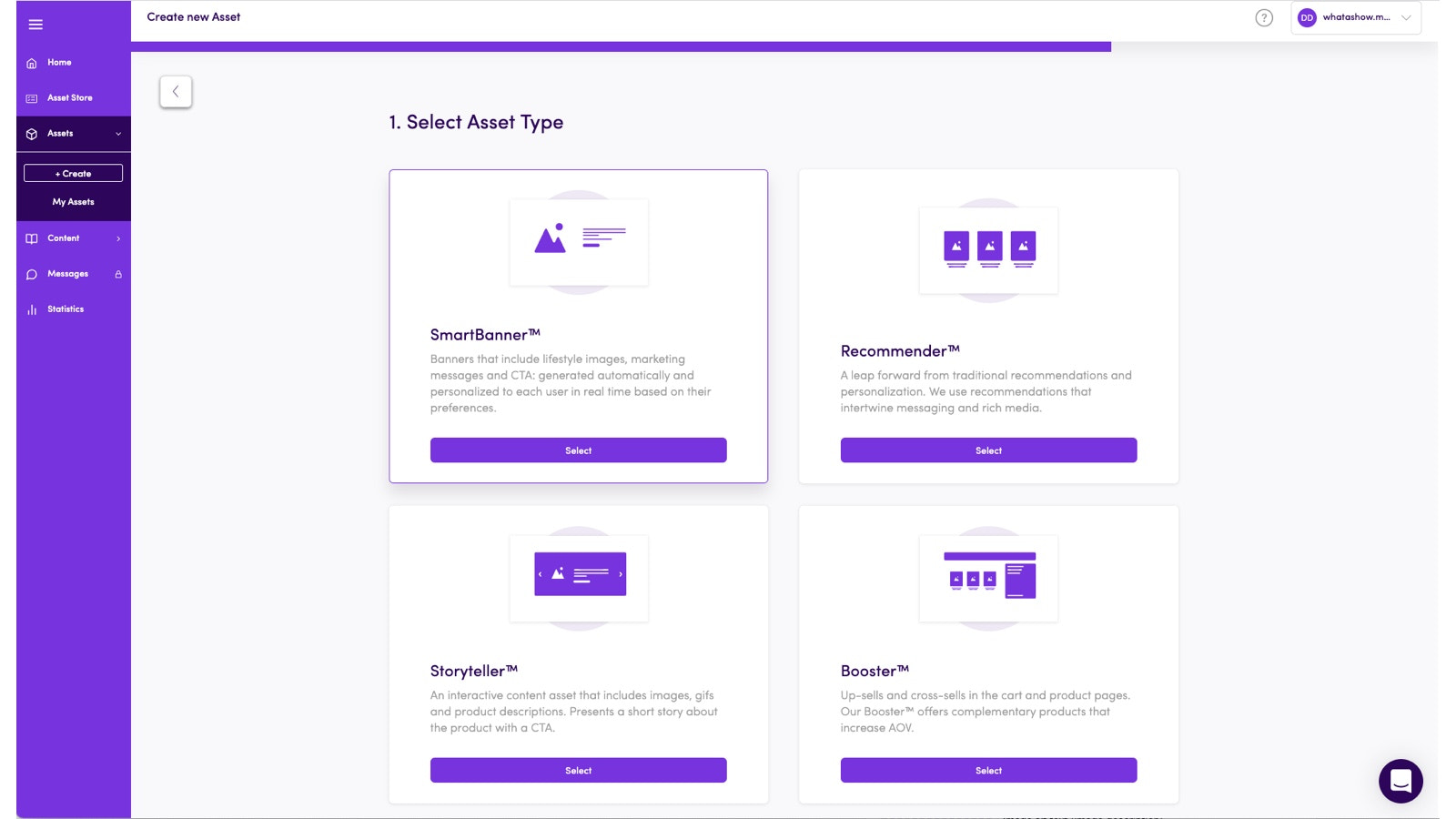 Create your own Asset fast, customize and display on your pages