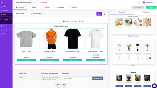 Beautiful customized templates for your products'recommendations