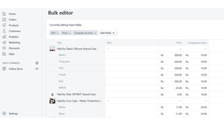 Select products and bulk edit with shopify bulk edit