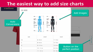 The easiest way to add size guides