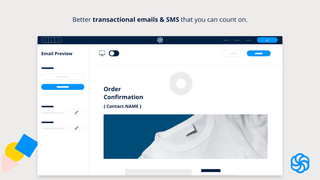 Deliver transactional emails and manage SMS.
