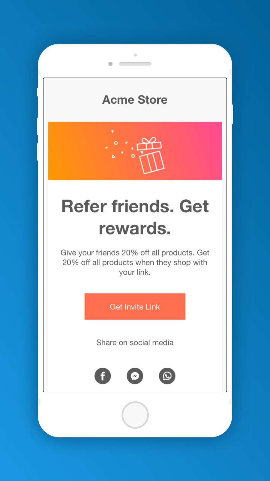 beautiful referral email designs on mobile - referralcandy