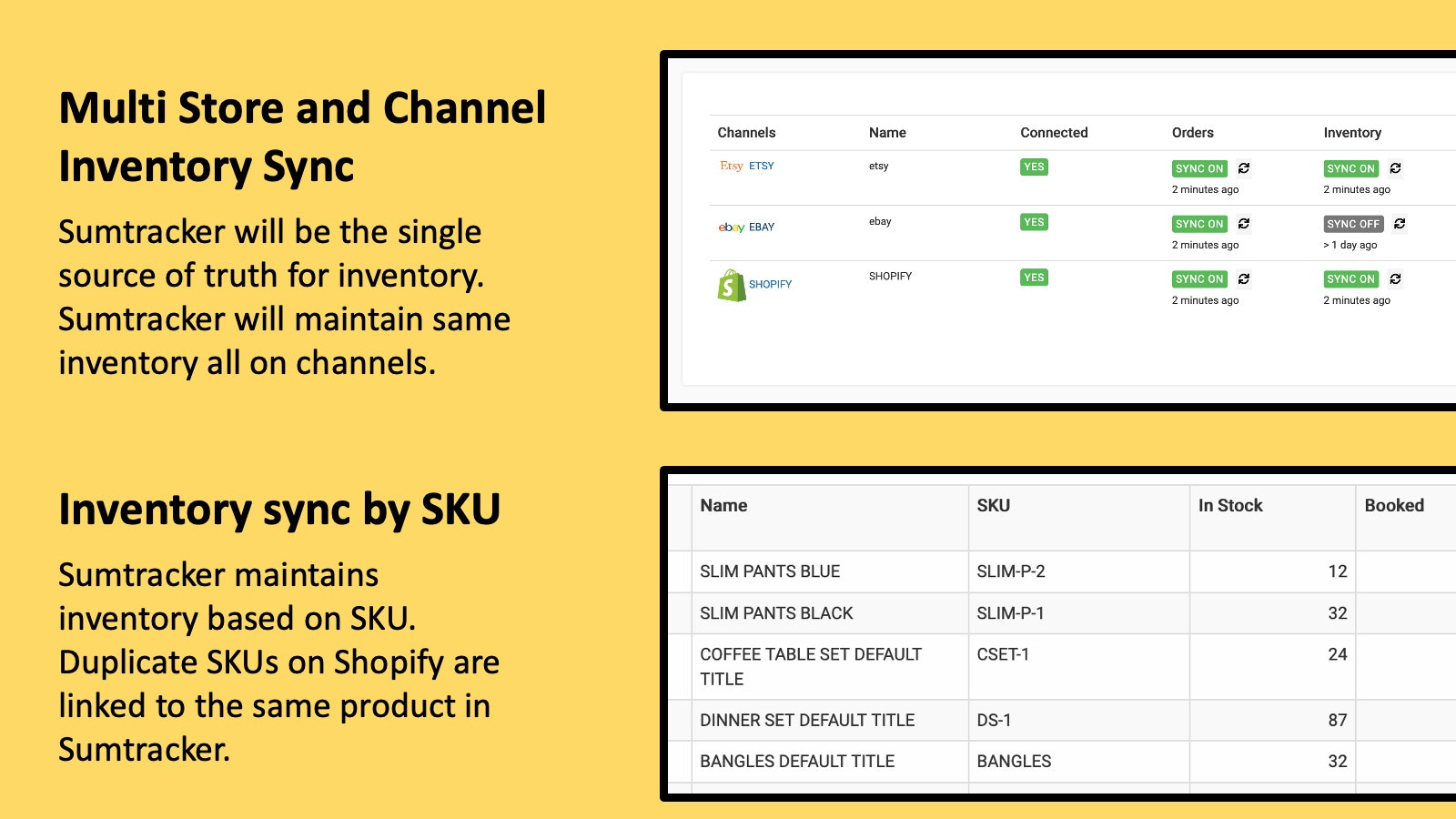 Multi store and channel inventory sync