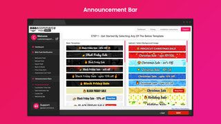 Web Push Notification + Announcement bar