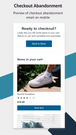 Checkout Abandonment Email on Mobile