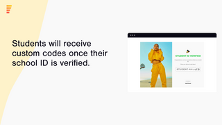 Students will receive a custom code once verified