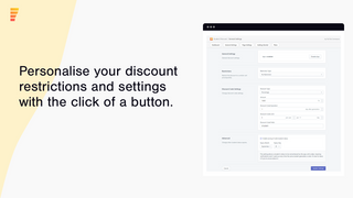 Personalise your discount restrictions easily
