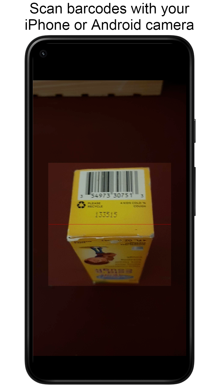 Mobile phone camera barcode scanner