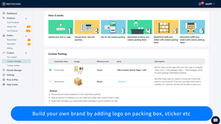 Build your own brand by adding logo on packing box, sticker etc