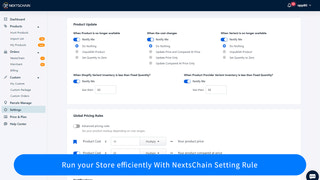 Run your Store efficiently With NextsChain Setting Rule