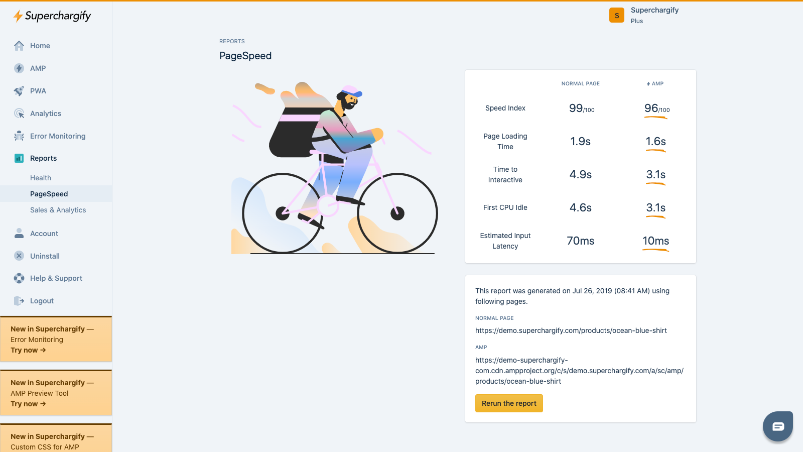 Superchargify: PageSpeed report