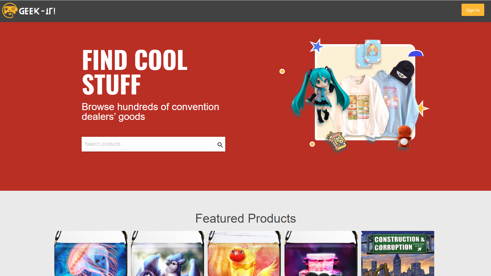 Showcase your products on Geek-it! Marketplace