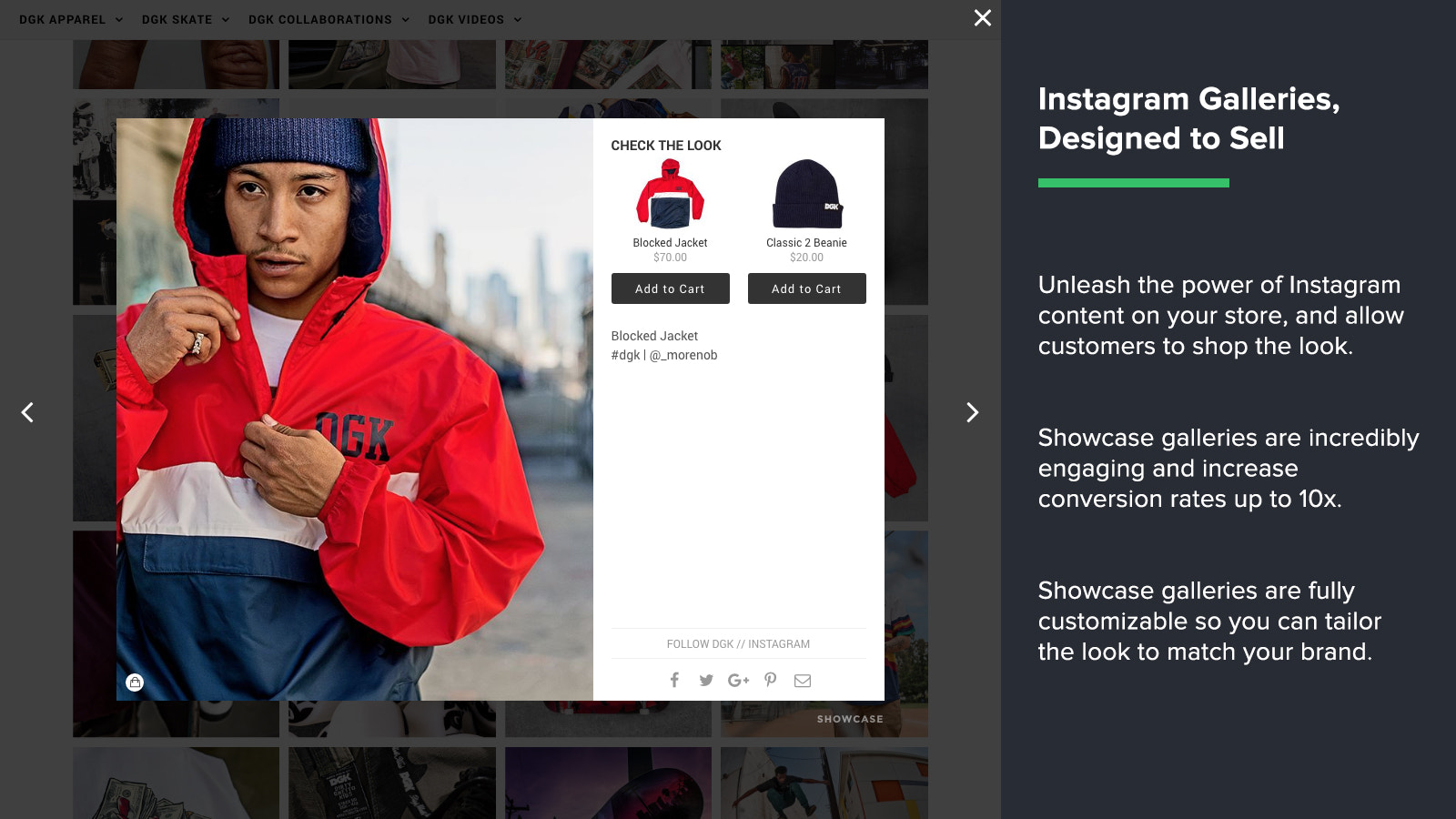Shoppable Galleries