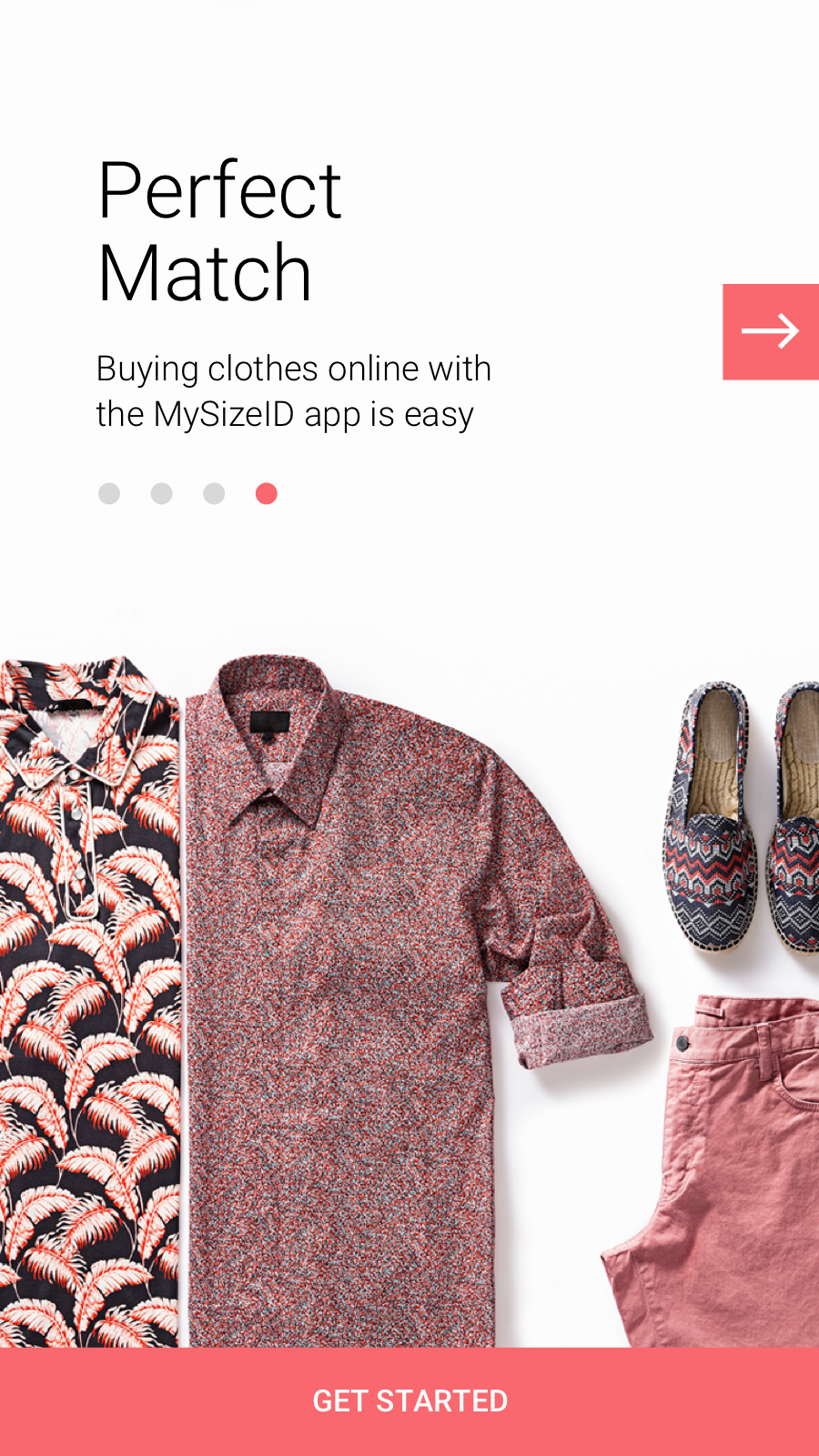 Buying clothes online with the MySizeID app is easy