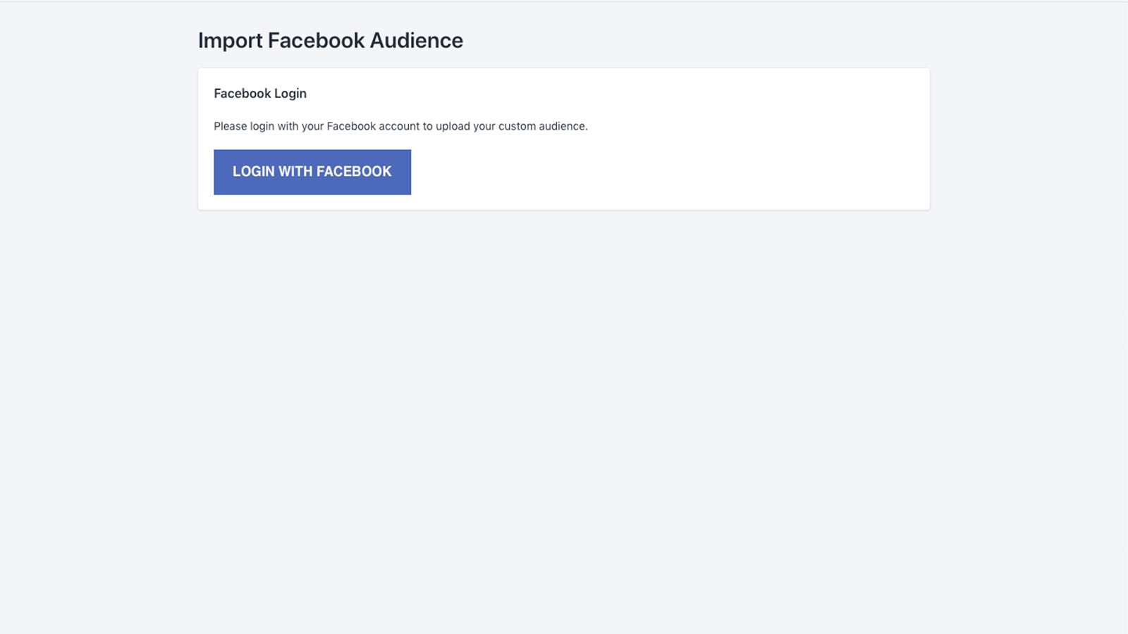 upload to your facebook ads account
