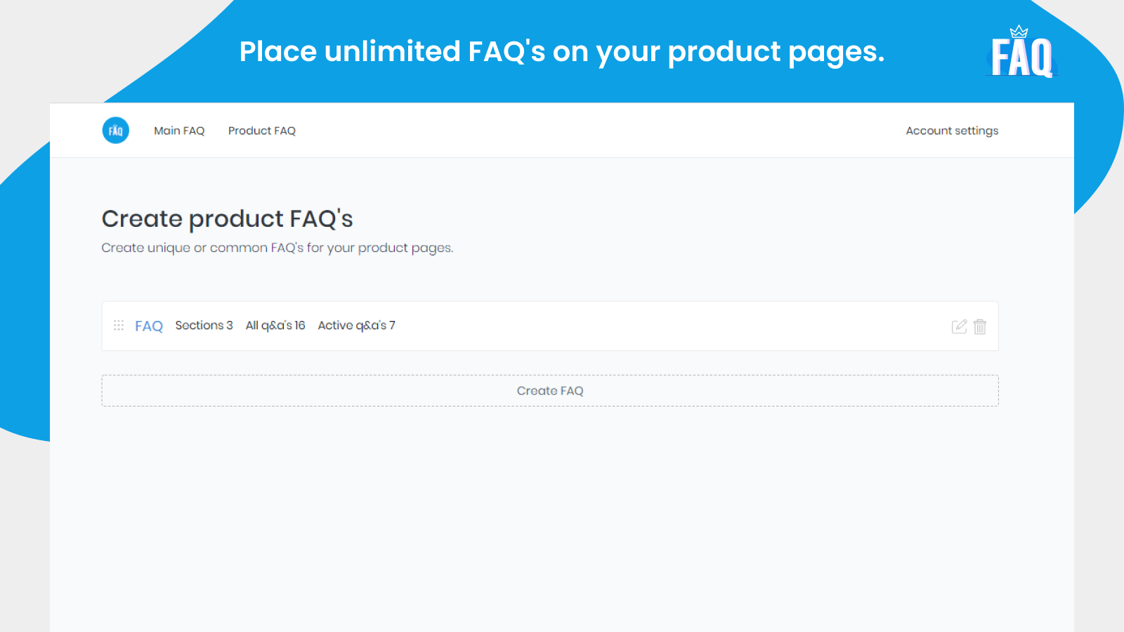 Unlimited product FAQS