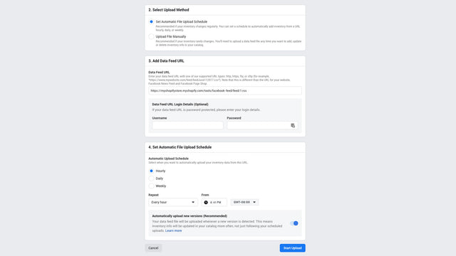 Add feed as a Product Data Source for Dynamic Facebook Ads.