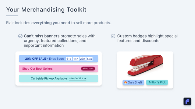 Everything you need to merchandise your Shopify store