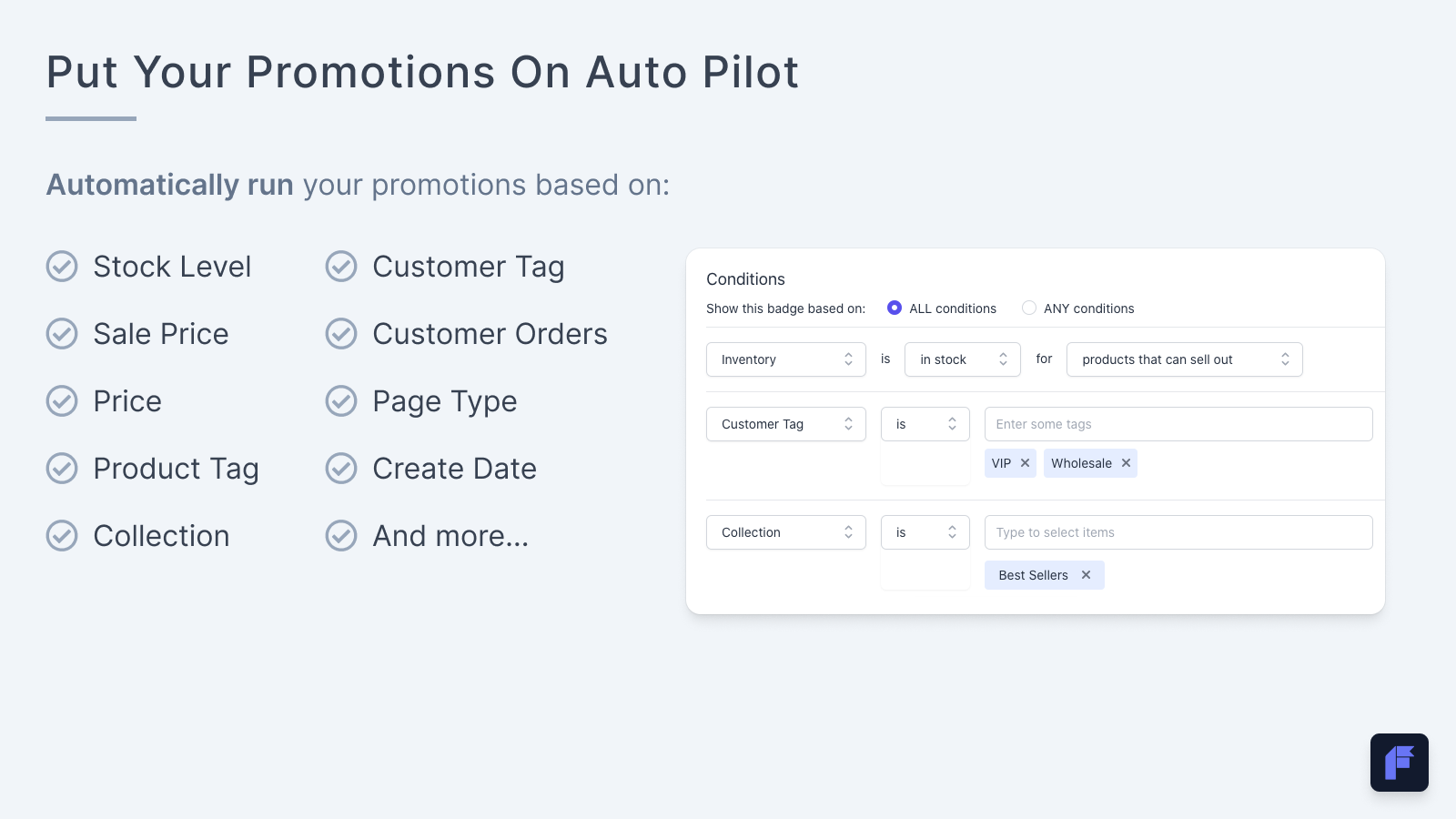 Automate your Shopify promotions with automation conditions
