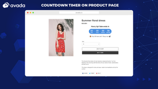 Countdown timer on product page