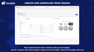Trust badge settings