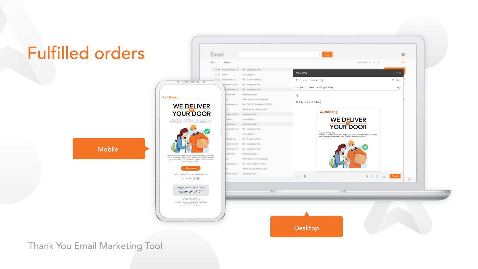 Thank You Email Marketing Tool Fulfilled Orders