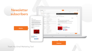 Thank You Email Marketing Tool Newsletter Subscribers