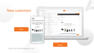 Thank You Email Marketing Tool New Customers
