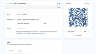 Create QR Codes that link right into your store