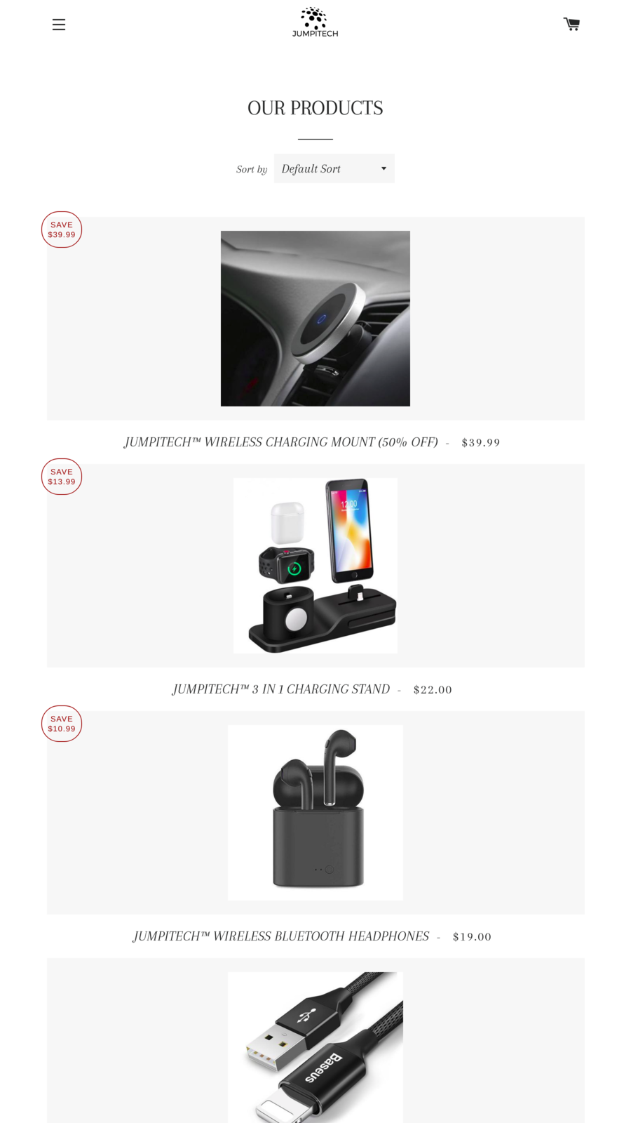 AMP page for Blog of one of the Shopify store.