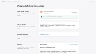 Easily manage your Pebble data from Shopify