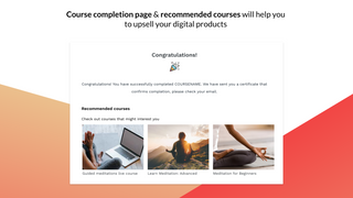 Courses - upsell by using course recommendations on completion