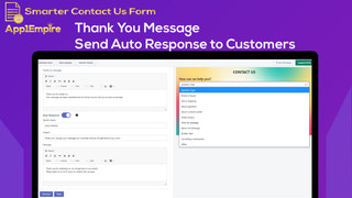 Contact us thank you message auto response to customer smart CRM