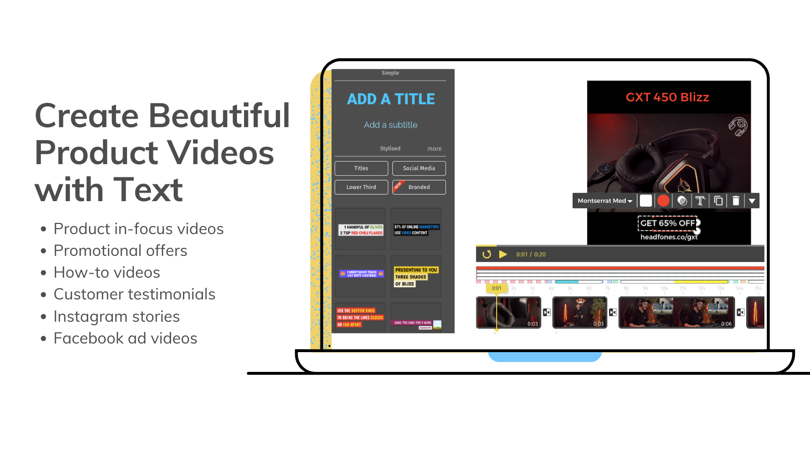 Typito's drag and drop style video maker