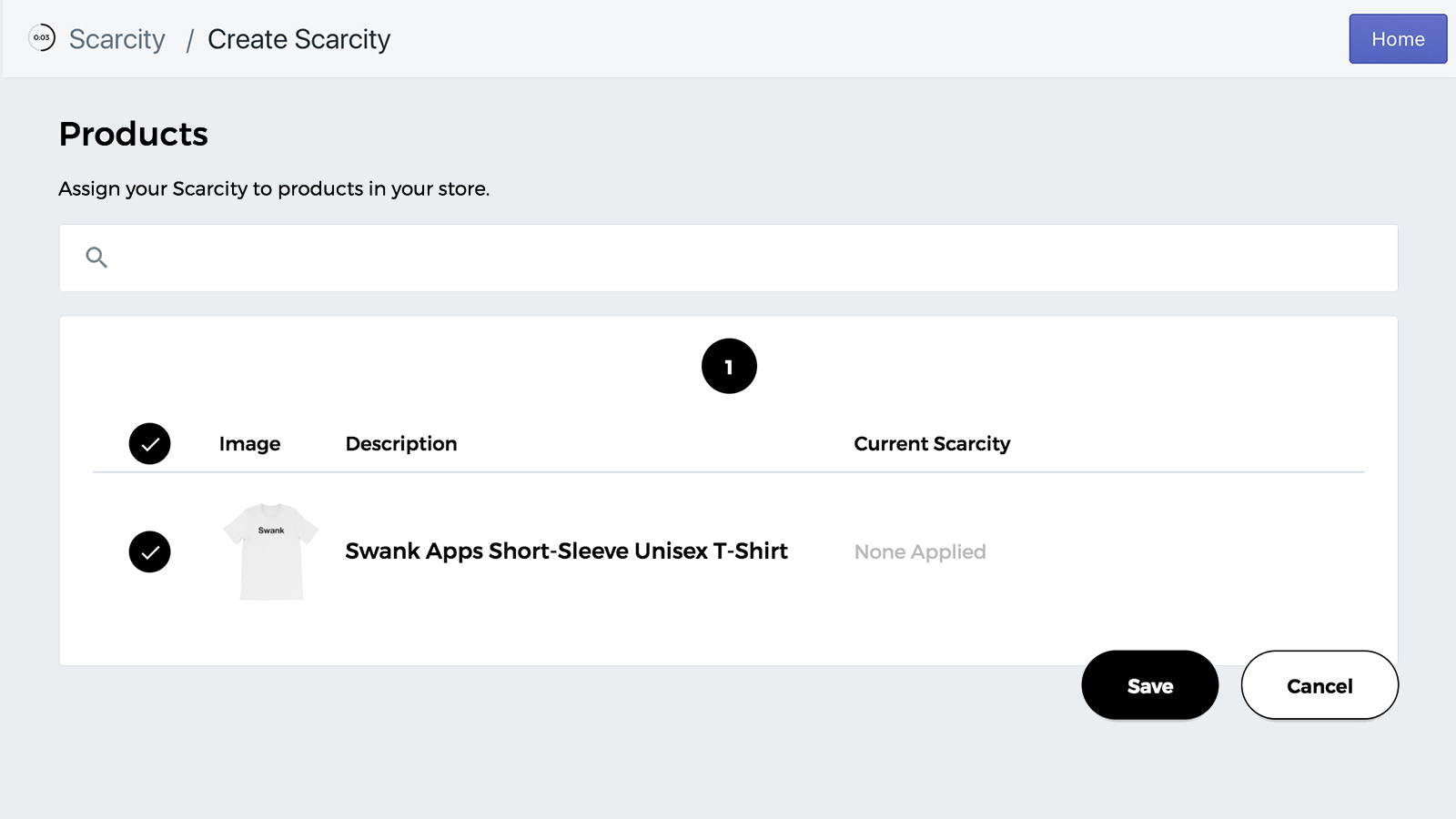 Create your first Scarcity product assignment