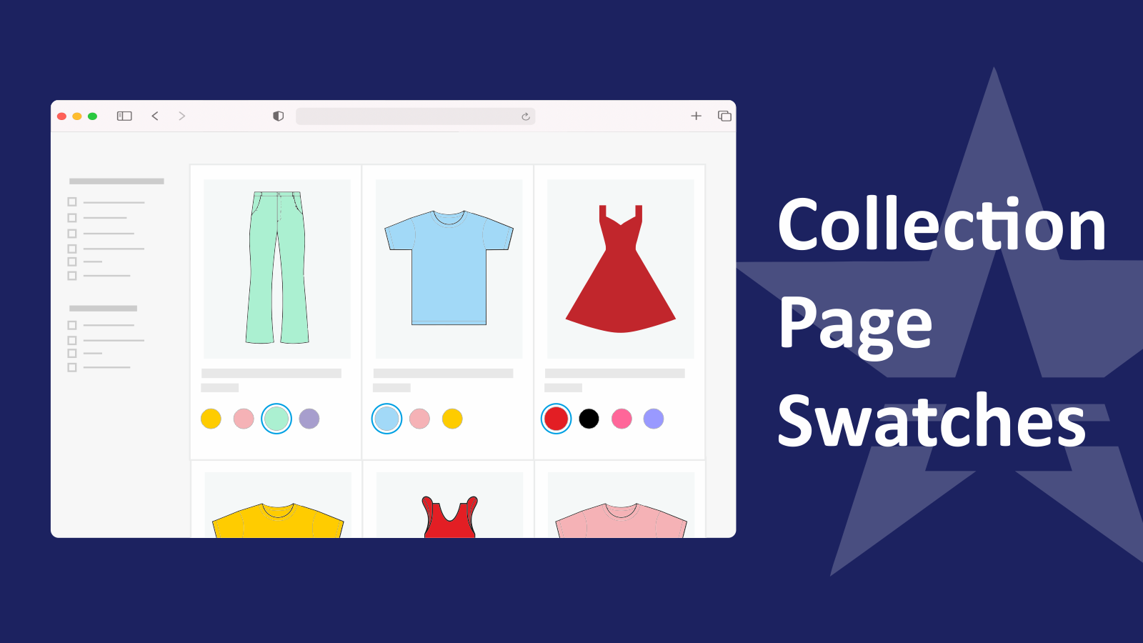 Swatches on Collection Page Variant Options Swatch King Shopify